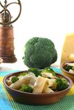 Tortiglione with broccoli Royalty Free Stock Images