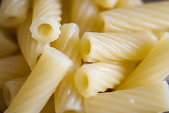 Tortiglioni pasta, close up view Stock Image