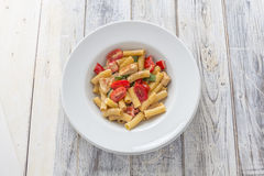 Tortiglioni Pasta Royalty Free Stock Images