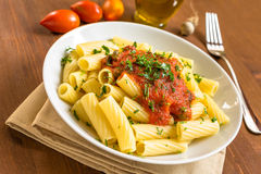 Tortiglioni with tomato Royalty Free Stock Image