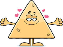 Tortilha Chip Hug dos desenhos animados ilustração stock