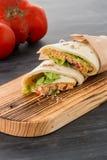 Tortilha com galinha e vegetais Imagens de Stock