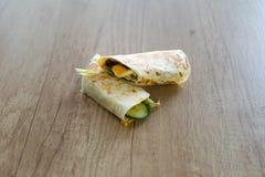 Tortilha do café da manhã com ovo Imagens de Stock Royalty Free