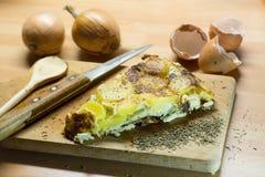 Tortilha do ovo com ervas Foto de Stock