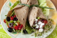 Tortilha - flatbread Imagem de Stock