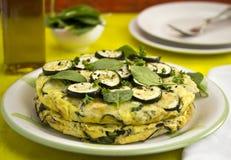 Tortilla με τα κολοκύθια Στοκ Εικόνες