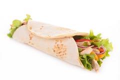 Tortilla περικάλυμμα στοκ εικόνες