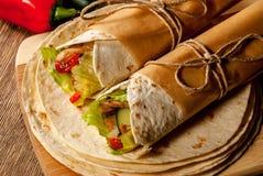 Tortilla περικάλυμμα στοκ φωτογραφίες