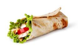 Tortilla περικάλυμμα, fajita Στοκ φωτογραφία με δικαίωμα ελεύθερης χρήσης