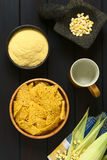Tortilla τσιπ και Cornmeal Στοκ φωτογραφίες με δικαίωμα ελεύθερης χρήσης