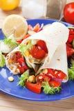 tortilla χορτοφάγα περικαλύμματα Στοκ Εικόνα
