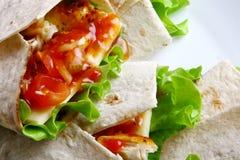 tortilla зеленого салата сыра Стоковое фото RF