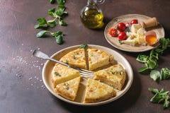Tortilla картошки с беконом Стоковые Изображения RF