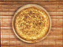 tortilla плиты испанский деревянный Стоковая Фотография RF