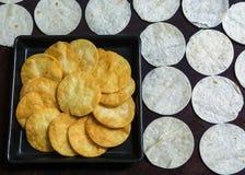 Τριζάτο tortilla τσιπ, τραγανό πρόχειρο φαγητό Στοκ φωτογραφίες με δικαίωμα ελεύθερης χρήσης