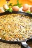 Tortilla avec des champignons de couche photographie stock libre de droits