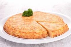 Tortilla avec la pomme de terre Image stock