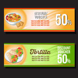 Tortilla banner Royalty Free Stock Image