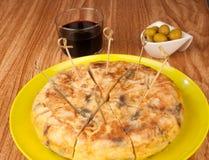 Tortilla on bar counter Stock Photo