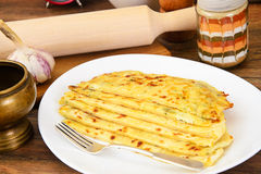 Tortilla with Cheese, Khachapuri. Georgian Royalty Free Stock Photo