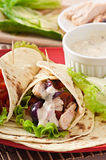 Tortilla with chicken Stock Photos