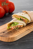 Tortilla with chicken and vegetables Stock Images