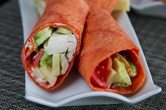 Tortilla Chicken wrap Royalty Free Stock Images