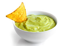 Tortilla chip and dip. Royalty Free Stock Image