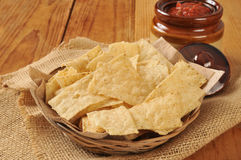 Tortilla chips ad salsa Stock Photo