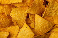 Tortilla chips background. Some tortilla chips forming a background pattern Stock Photography