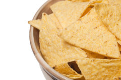 Tortilla chips in bowl Stock Image