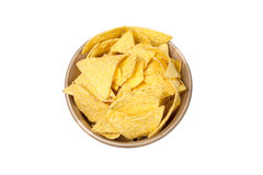 Tortilla chips in bowl Royalty Free Stock Image