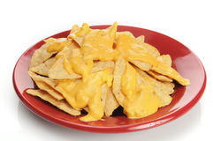Tortilla chips with cheese Stock Images