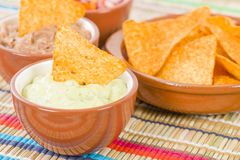 Tortilla Chips & Dips Royalty Free Stock Photo