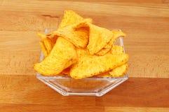 Tortilla-Chips in einer Schüssel Lizenzfreie Stockfotografie