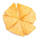 Tortilla chips. Formation on white background Stock Images