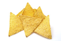Tortilla chips isolated on white Stock Image