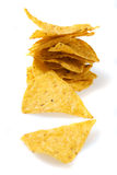Tortilla chips isolated on white Stock Photo
