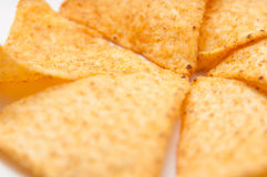 Tortilla chips pile Stock Image