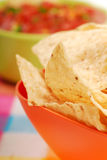 Tortilla chips and salsa Stock Photos