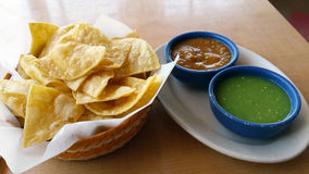 Tortilla Chips and Salsa Stock Images