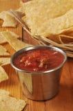 Tortilla chips and salsa Stock Image
