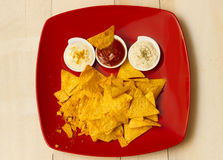 Tortilla chips with seasonings Stock Images