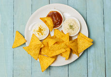 Tortilla Chips With Seasonongs Stock Image