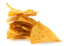 Tortilla chips slices Royalty Free Stock Images