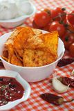Tortilla chips slices Royalty Free Stock Photos