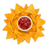 Tortilla chips sun Royalty Free Stock Images