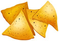 Tortilla Chips on White Background. Illustration stock illustration
