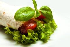 Tortilla com tomate Imagem de Stock Royalty Free