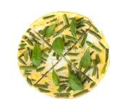 Tortilla con las habas verdes Imagenes de archivo